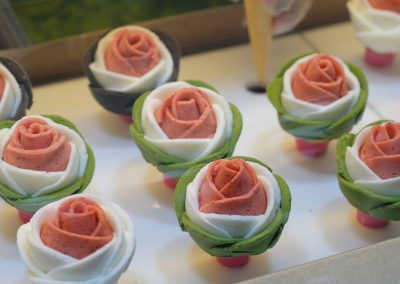 3 layer ice cream flower