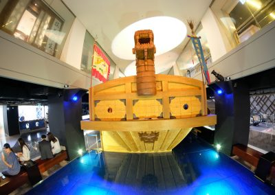 Turtle ship made to near scale
