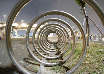 Bicycle parking spiral