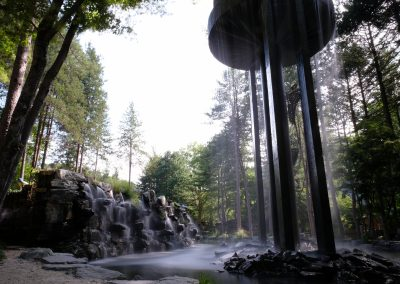 The sound of waterfall makes your relax