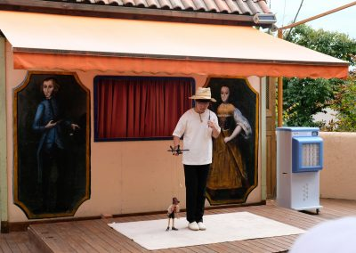 Puppet show. Quite a talent actually.