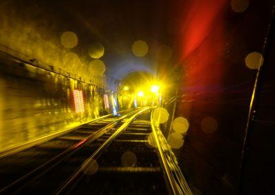 Yellow light trails.