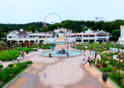 Tiltshift effect on everland