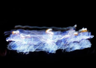 Slow shutter on dancers