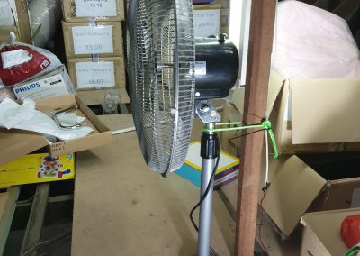 Base of fan is broken. Stick it in the attic.